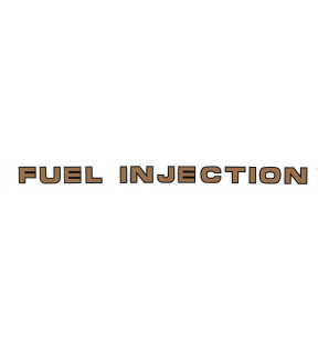 DECAL FAIRING FUEL INJECTION VINYL/POLYMER