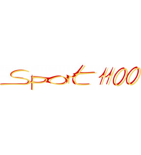 DECAL 1100 SPORTS GOLD RED POLYMER VINYL