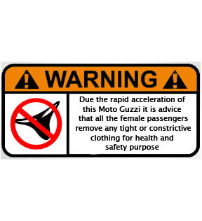 DECAL CRAZY WARNING GUZZI