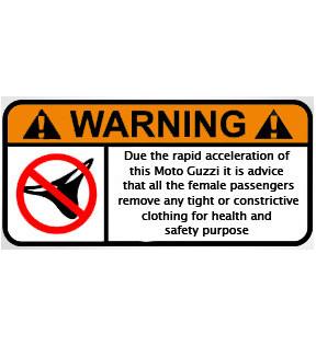 DECAL CRAZY WARNING GUZZI