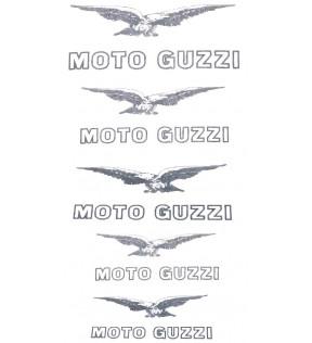 MOTO GUZZI DECALCO GALLLETTO A.E.-STORNELLO-ZIGOLO-LODOLA -BIANCO/NERA SERIE