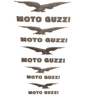 MOTO GUZZI DECALCO  AIRONE-FALCONE-GALLETTO-GUZZINO-CARDELLINO-SERIE ORO