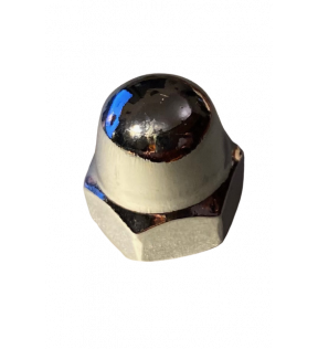 BLIND NUT M8 FE WHITE CHROME