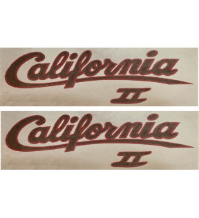 CALIFORNIA 2-GOLD RED GOLD PAIR VINYL/POLYMER