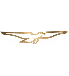 DECAL PIGTAIL-EAGLE STYLIZED GOLD