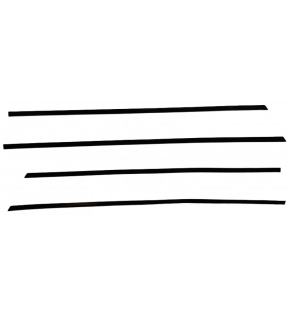 DECAL FRONT DEFLECTORS KIT BLACK VINYL /POLYMER