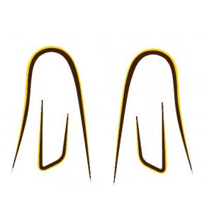 DECAL-SERIES V35 C-V50 C-V65 C BROWN GOLD 4 PIECES