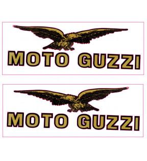 DECAL EAGLE-MOTO OWLS GOLD-BLACK MEDIUM